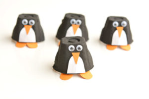 Cute egg cup penguins